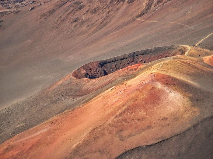 High Angle View Of Hole On Mountain