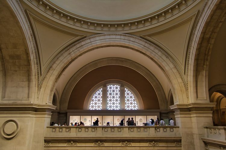 Inside the MoMA Architecture Arch Group Of People Built Structure Indoors  Crowd Day Men Illuminated Real People Building Large Group Of People Religion History Travel Window Belief Place Of Worship Tourism Architectural Column Ceiling Ornate Arched Moma New York City