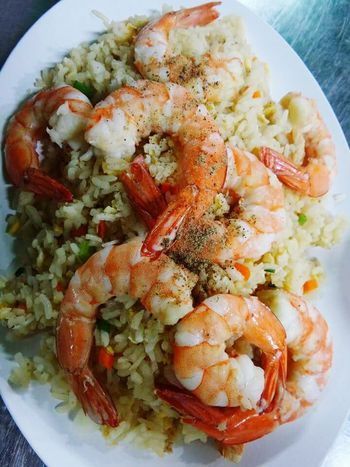 Fried rice with shrimps....Yummy!!~