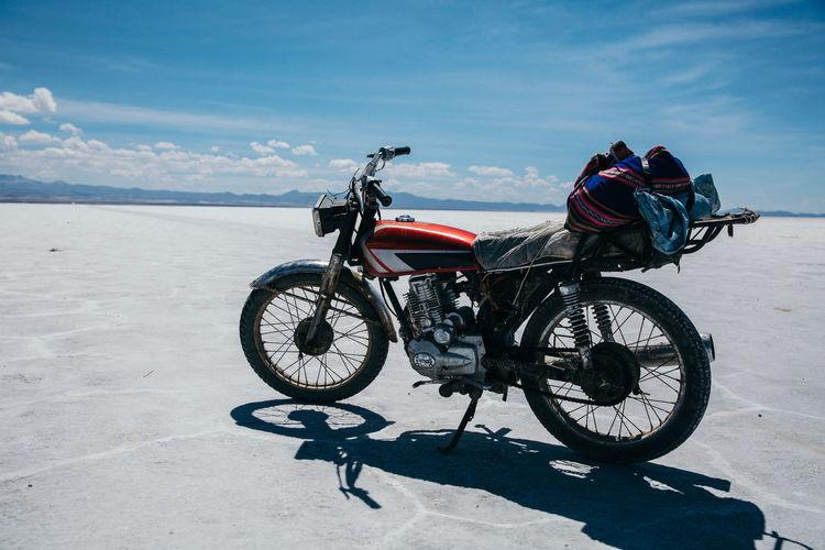 Motorcycle Travel Uyuni Bike Landscape Nature Ride South America