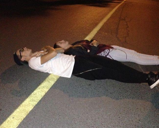 Night time shenanigans Party Road Night Drunk Fun