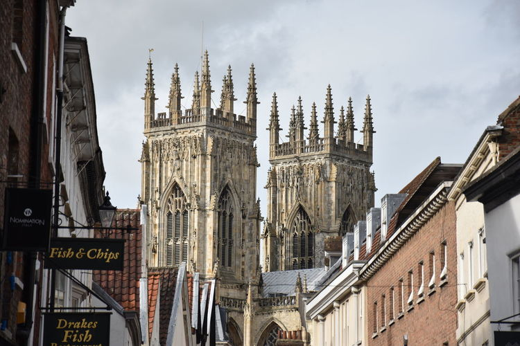 Architecture Architecture_collection Historical Building Nikon York York Minster  Architecture Building Building Exterior Building Story Buildings Built Structure City Day Historic History Low Angle View No People Outdoors Place Of Worship Religion Sky Travel Destinations