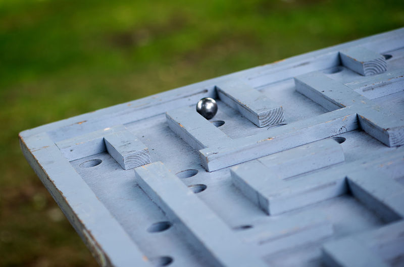 Close-up of maze