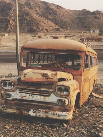 قديمة  محافظة_بدر المدينة_المنوره Old Transportation Abandoned Mode Of Transport Damaged Arid Climate Day Land Vehicle No People Outdoors Nature