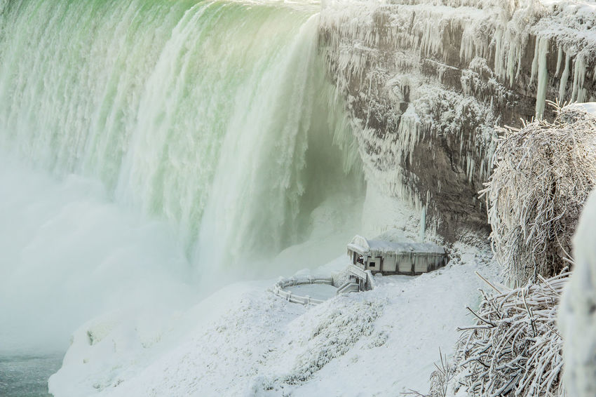 Niagara Falls Canada Niagara Falls Frozen Weather Photography Winter Beauty In Nature Cliff Day Down Force Hydroelectric Power Motion Nature Niagara Falls Winter No People Outdoors Power In Nature Rock - Object Scenics Water Water Flows Waterfall