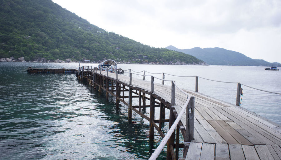 Boat Destination Hills Mountains Natural Nature Path Road Roadtrip Water Wooden Bridge Over Water