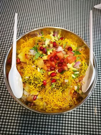 Food Plate Freshness Food And Drink Ready-to-eat Table Close-up Freshness TimepassPhotography Happiness My Dubai Loveforphotography Huaweiphotography Huawei P9 Leica Mobilephotography Dubai❤ Happiness♥ Chat Indian Chat Sev Puri