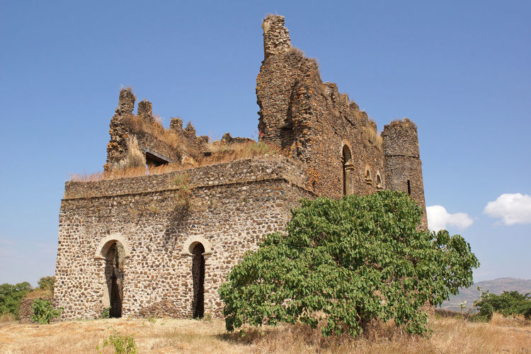 Ruin of palace Guzara, Gondar, Ethiopia, Africa Africa Ancient Architecture Building Exterior Buildings Ethiopia Gondar Guzara Outdoors Ruins Sights Sightseeing Tourism Tourist Attraction  Tourist Destination Travel Travel Destinations