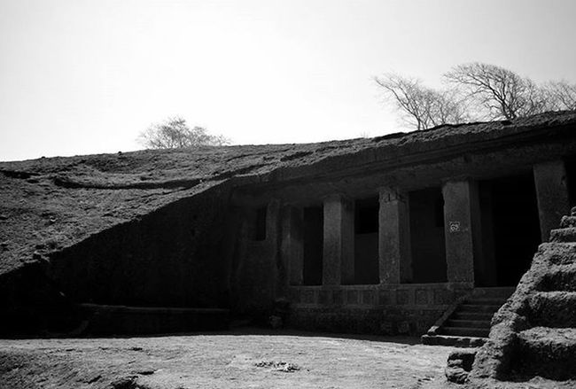 Travel Explore Sgnp Blackandwhite Afternoon Kanhericaves Rockcut Monument Buddhist Influence Artandculture Light Shadow