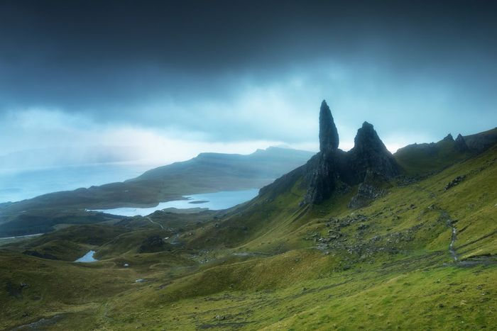 Mountain Scenics Beauty In Nature Tranquil Scene Tranquility Nature Sky Landscape No People Day Outdoors Mountain Range Scotland IsleOfSkye Isleofskyescotland Oldmanofstorr