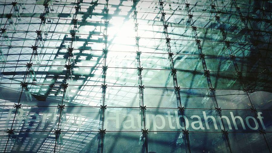 Full Frame Shot Of Glass Berlin Hauptbahnhof