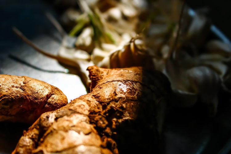 Close-up of ginger bread on leaf