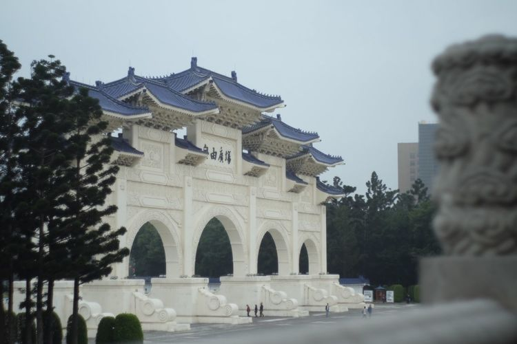 Chiang Kai-shek Memorial Hall Architecture Built Structure Building Exterior Tree Sky Plant Incidental People History The Past Travel Destinations Nature Arch Tourism Travel City Building Clear Sky