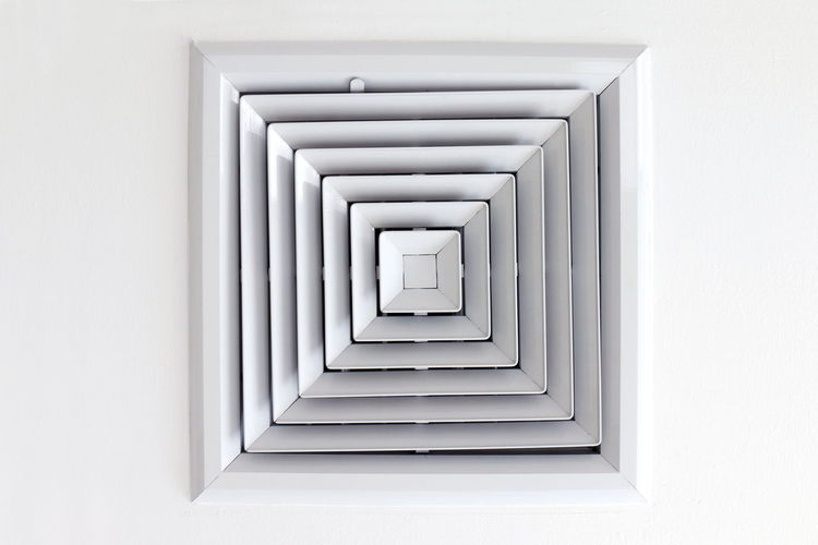 Air Duct Ceiling white, Air duct in square shape, condition vent modern air conditioner or air vent on ceiling white, Duct for conditioning heating on a building ceiling Air Duct Air Duct Ceiling Conditioning Duct Ceiling Absence Air Air Duct Arcade Architecture Building Built Structure Corridor Design Diminishing Perspective Direction Empty Heating In A Row Indoors  No People Pattern Shape The Way Forward Wall - Building Feature White Color