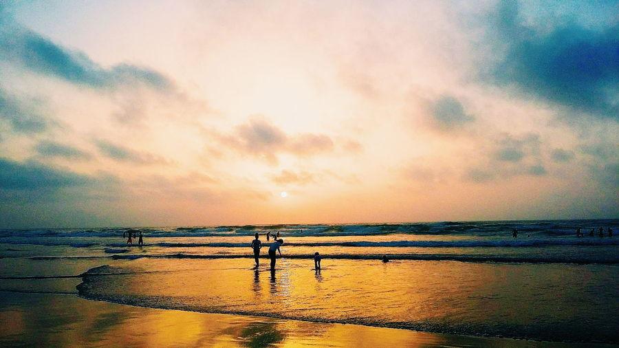 Ain Diab Beach Horizon Over Water Scenics Sea Sky Sunset Tranquil Scene Water