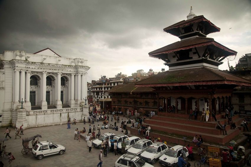 Kathmandu Nepal Square Architectural Column Architecture Building Exterior Built Structure History Large Group Of People Outdoors Place Of Worship Real People Sculpture Spirituality Temple Travel Destinations