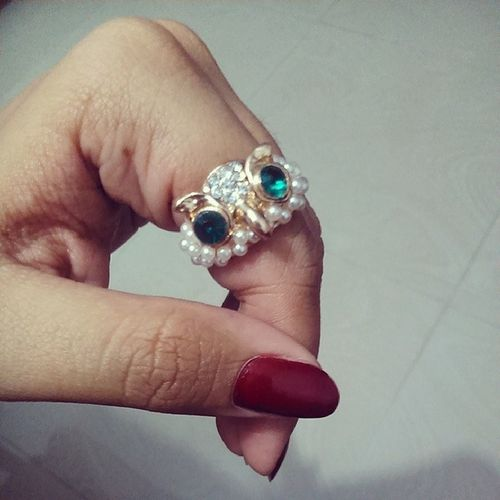 Like the nicest piece of jwellery I have had in months... Thankuuu so much @cindyminpongen Totally love them... :-* Instagood Iger Fingerring Owl