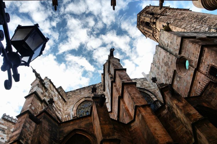 Barri Gótic Old Town Catalunyaexperience Barcelonalove Sky And Clouds Barcelona Catalunya Catalonia Travel Destinations Travel Photography Nikon Gothic Catedral Low Angle View Built Structure Cloud - Sky Sky