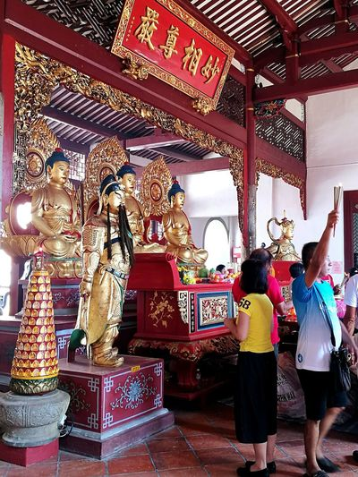 Buddhist. Cultures Religion People Indoors  Lantern Spirituality Buddhist Temple Temple Of Heaven Worshipping Place Of Worship Tradition Temple View Deities