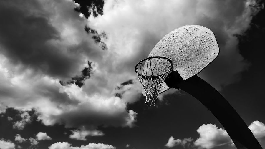 Black And White Monochrome Photography Black & White Black And White Photography Black And White Collection  Clouds Sky Basketball Park Sports Welcome To Black Place Of Heart Black And White Friday EyeEm Ready