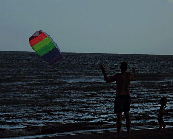 Silhouette Rainbow Kite Baby Man Family Summer summer 2014 Bibione