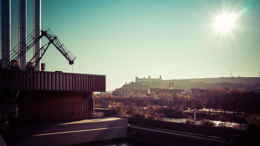 Im Kulturspeicher Würzburg Sky Day Architecture Würzburg Kulturspeicher Franken No People Gegenlicht Contre-jour Contrejour Festung Fortress Marienberg
