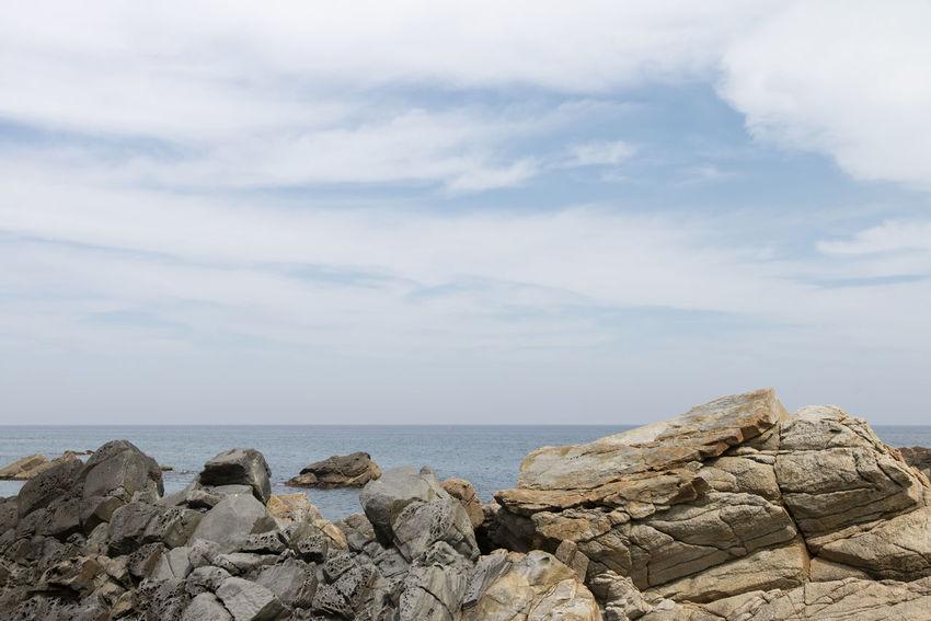 "famous seaside called ""Badabuchaegil"" at Jeongjdongjin in Gangreung, Gaongwondo, South Korea Badabuchaegil Gangreung Jeongdongjin Beauty In Nature Day Horizon Over Water Nature No People Outdoors Rock - Object Scenery Scenics Sea Seaside Sky Tranquility Water"