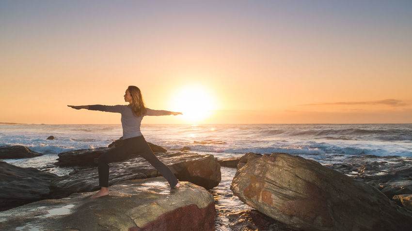 Beauty In Nature Body And Mind Body And Soul Energy Festival Season Girl Health Idyllic Lifestyle Light Meditation Nature New Age Ocean Outdoors Peace Pose Scenics Sea And Sky Sun Sunrise Sunset Tranquil Scene Tranquility Yoga