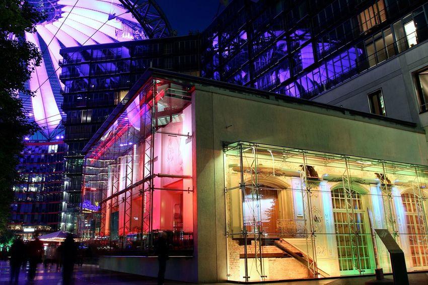 Berlin My Fuckin Berlin Berliner Ansichten Sonycenter Festival Of Lights 2015 Open Edit EyeEm Best Shots Eye4photography  Night Lights Nightphotography Learn & Shoot: After Dark Cities At Night