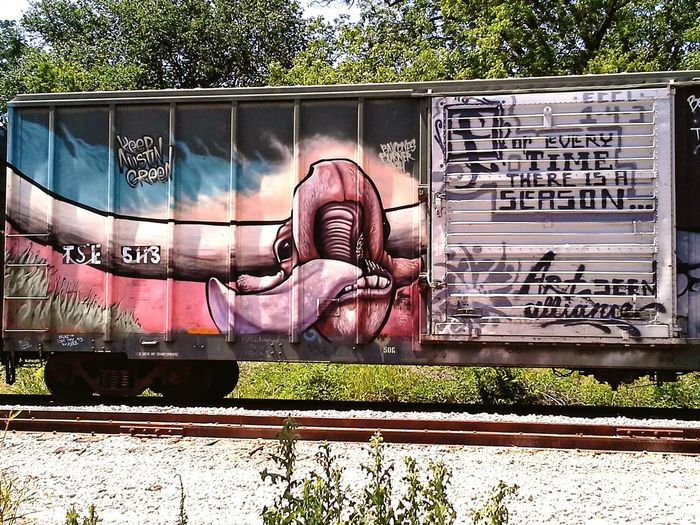 Train ArtWork Painting Artwork Freestyle Art East Side Austin Texas Awesome