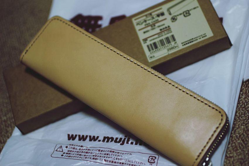 Pencase 無印良品 ヌメ革 無印良品にてやっと再販されていたヌメ革ペンケースを購入!!