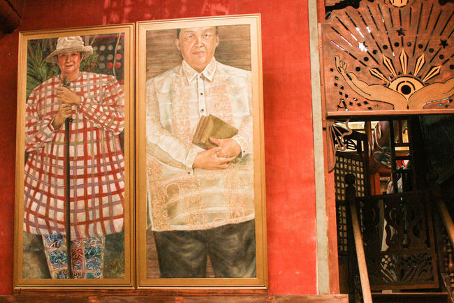 Patis Tito Garden Cafe Art Art And Craft Collection Creativity Human Representation Indoors  Multi Colored Painting People Philippines Red Red Color Window