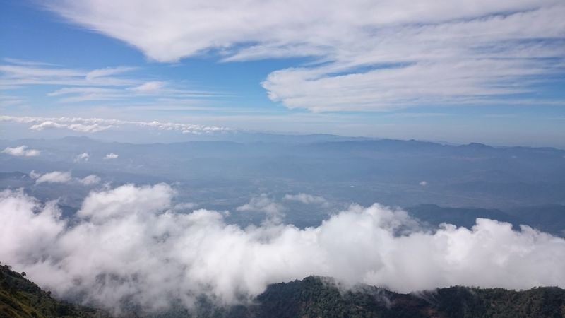 Above The Clouds Aerial View Beauty In Nature Cloud Cloud - Sky Clouds Clouds And Sky Day High Up Landscape Mountain Mountain Range Nature Nature Photography No People Outdoors Scenics Sky Thailand Tranquil Scene Tranquility Travel Travel Photography Traveling View