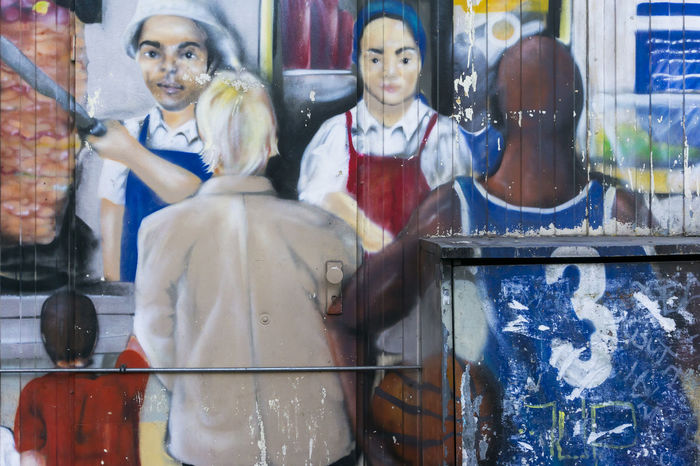 Mural on döner stand in Berlin, Germany Berlin Color Image Döner Germany🇩🇪 Horizontal Human Representation Human Representations Male Likeness Mural No People Outdoors Photography STAND