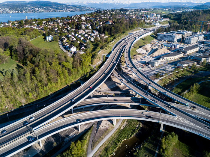 Aerial View Architecture Built Structure Car City Cityscape Connection Day Elevated Road EyeEmNewHere Futuristic High Angle View Highway Motion No People Outdoors Road Speed Traffic Transportation