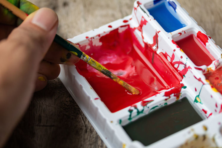 Artist Artistic Children Colors Desk Kids Rustic Wood Art Brush Child Childhood Colorful Countryside Education Educational Leaning Lifestyles Painter Playing School Table Water Watercolor Wooden
