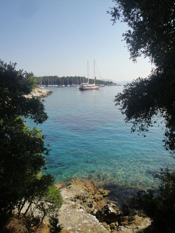 Fiskardo Cefalonia Grecia Water Nautical Vessel Transportation Sky Plant Sea Mode Of Transportation Tree Nature Sailboat Day No People Scenics - Nature Beauty In Nature Travel Sailing Clear Sky Tranquility Outdoors Yacht Femalephotographerofthemonth 43GoldenMoments