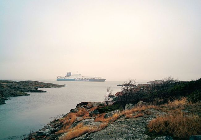 slightly foggy on Brännö Island . Swedish Archipelago The Calmness Within ShipSpotting Baltic Sea Sea View Rocks And Water Landscape_Collection EyeEm Gallery EyeEm Best Shots EyeEm Nature Lover The Week On Eyem Nexus5 The KIOMI Collection On The Way