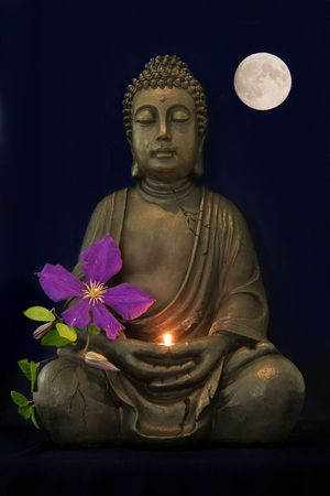 Budha Moon Candel Flower Playing With Photoshop Enyoing Life From My Archives Swaanfotografie