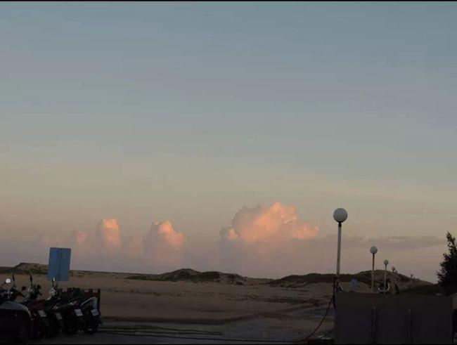 隘門沙灘黃昏