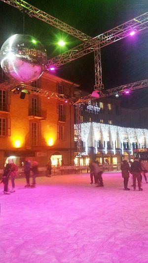 Locarno Ice Winter Night