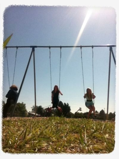 Chillin' on the swings