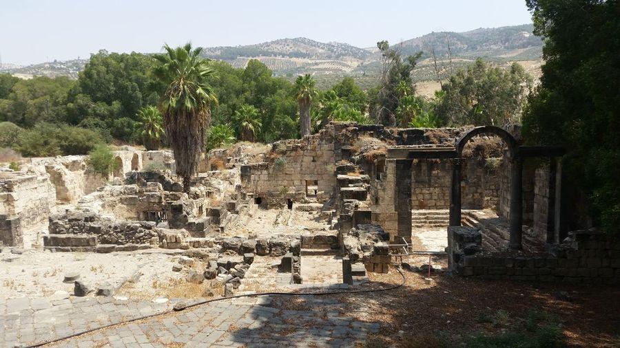 Old ruin at hamat gader