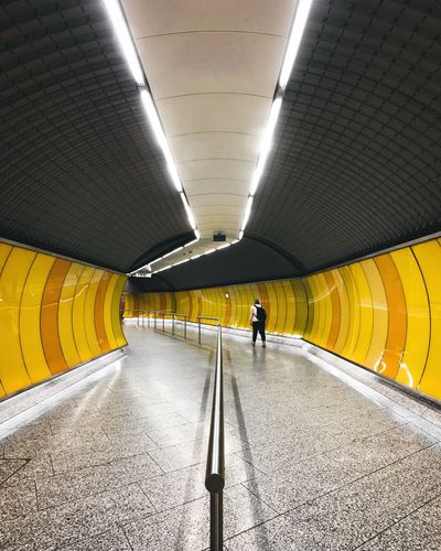Paint The Town Yellow Tunnel Modern EyeEmNewHere The Week Of Eyeem The Week On EyeEm Simplicity Underground One Person Yellow Wihte The Architect - 2018 EyeEm Awards