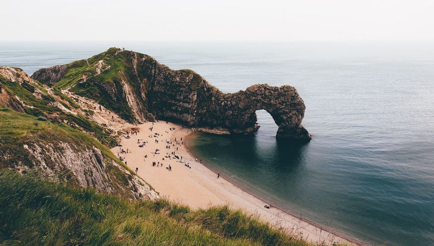 Durdle Door, Dorset. Bit of a climb but worth the burning legs to get this shot! Landscape VSCO Vscocam Exploring EyeEm Best Shots EyeEm Nature Lover Landscape_photography Eye4photography  Photooftheday Summer Beach Coastline Dorset Durdle Door Original Experiences