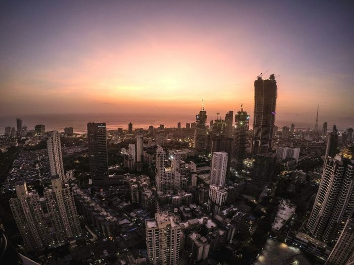 The view from the tallest hotel in India. This is Mumbai. Mumbai Rooftop EyeEm EyeEm Best Shots Indiapictures Gopro Goprooftheday India Buildings & Sky BuildingPorn Architecture Sunset Skyporn City Life Cityscapes City Skyline City Lights Urbex The Great Outdoors - 2017 EyeEm Awards