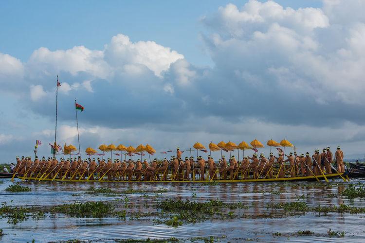 Burma Burmese Boat Festival Burmese Life Inle Lake Shan State Traditional Culture