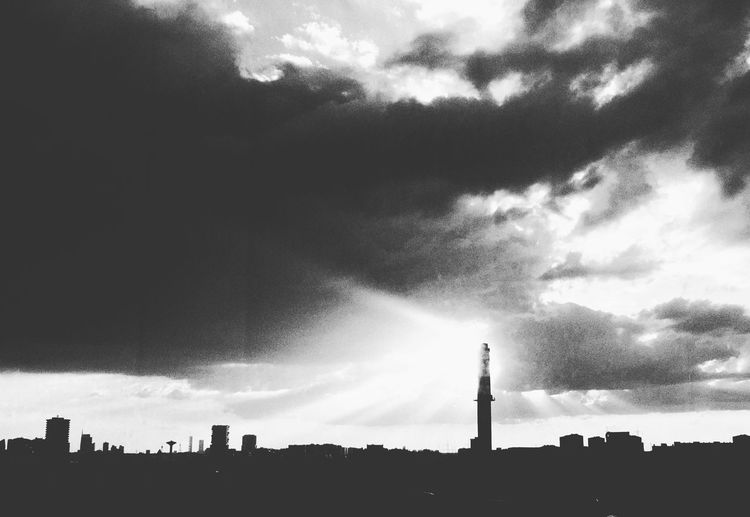 Blackandwhite Architecture Built Structure Building Exterior Tower Tall - High Sky Cloud - Sky Silhouette Skyscraper City Cityscape