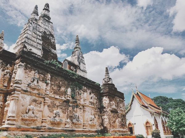 Some temple at Chiang mai Chaing Mai, Thailand Temple Built Structure Architecture Building Exterior Building Belief Religion Cloud - Sky