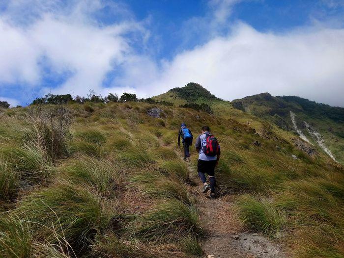 Hiking Outdoors Nature Grass Adventure Mountain Mountain Range Peak Mountaineering Mountainscape